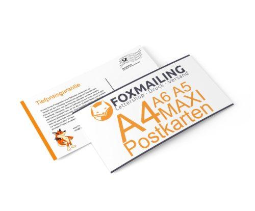 Postkarten Mailing DIN-Lang